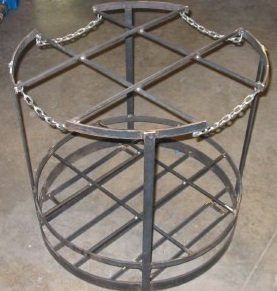 Fixture baskets for tube cleaning in jet spray washer