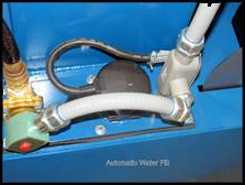 Auto-water fill maintains solution levels